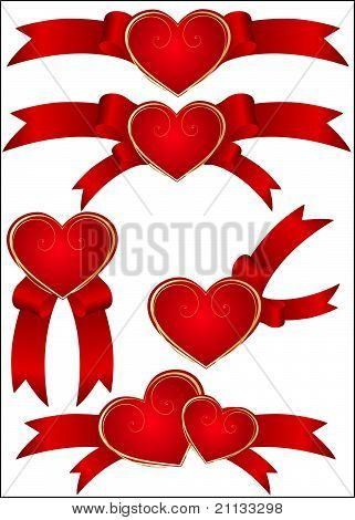 Collection Of Detailed Vector Hearts