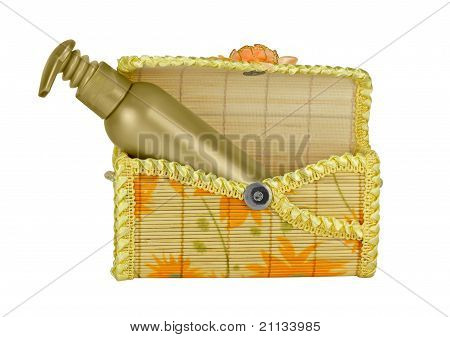 Open Cosmetic Bag.