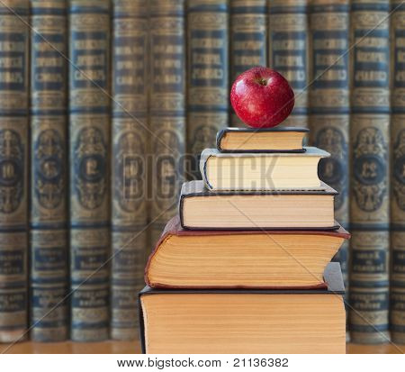 Apple On Book.