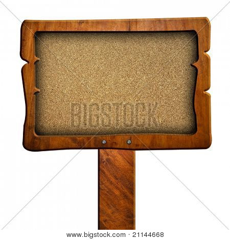 Chipboard sign with clipping path