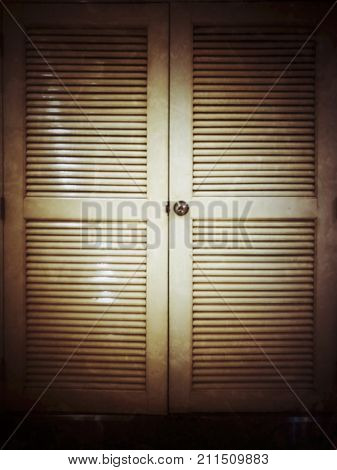 Blurred old doors