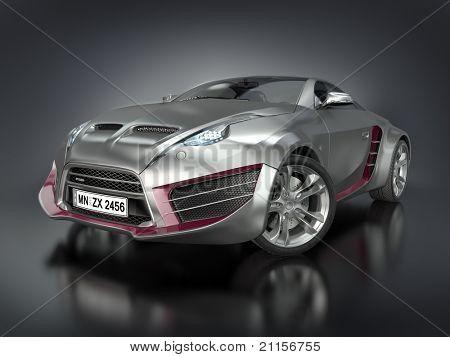 Hybrid sports car. Original car design.
