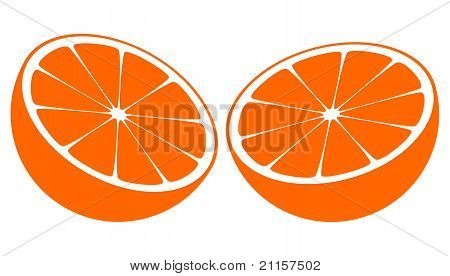 Orange Bisected In Half
