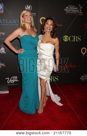 LAS VEGAS - JUN 19:  Liza Huber, Susan Lucci arriving at the 38th Daytime Emmy Awards at Hilton Hotel & Casino on June 19, 2010 in Las Vegas, NV.