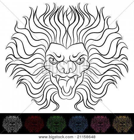 An image of a lion head drawing.