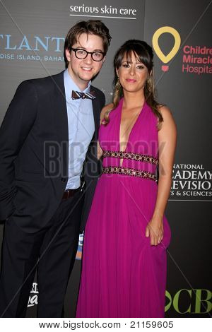 LAS VEGAS - JUN 19:  Bradford Anderson, Kimberly McCullough arriving at the  38th Daytime Emmy Awards at Hilton Hotel & Casino on June 19, 2010 in Las Vegas, NV.