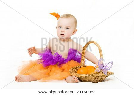 Baby with basket