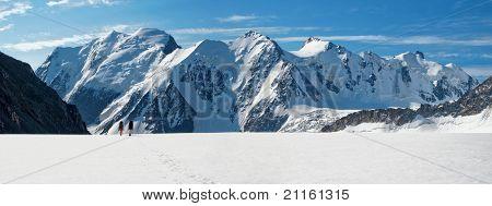 Crossing Glacier