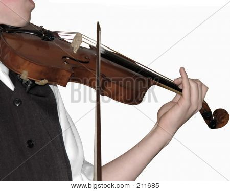 Violine Player, (isolated)