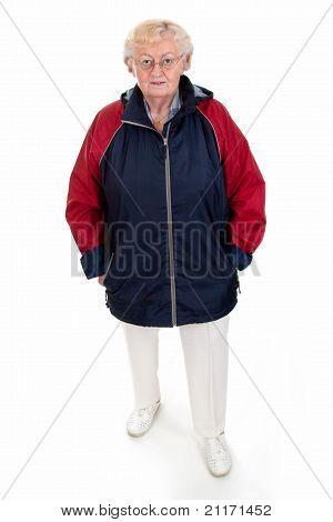 Senior Woman In Rainjacket