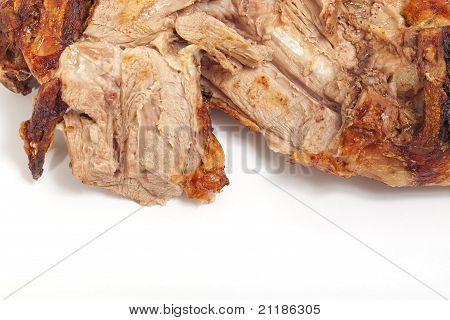 roasted lamb meat