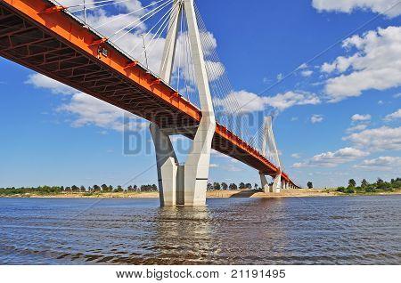 Big Cable-braced Bridge In Murom, Russia