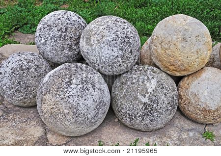 Pile Of Stone Cannon Balls