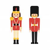 Nutcrackers Soldiers In Flat Style poster