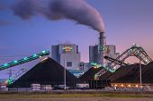 Brand New Coal Powered  Plant In Eemshaven poster