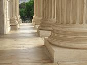 image of neo-classic  - Columns at the United States Supreme Court in Washington DC - JPG