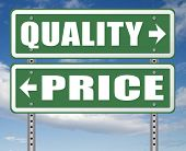 price quality balance best product value and top or premium qualities cheap road promotion sign arro poster