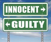 innocent or guilty presumption of innocence until proven guilt as charged in a fair trial for crime  poster