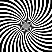 Hypnotic Swirl Lines Abstract White Black Optical Illusion Vector Vortex Pattern Background poster