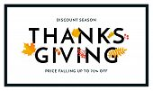 Thanksgiving Autumn Sale Poster Fall Discount Promo Shop Offer Vector Banner poster