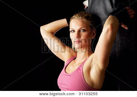 Portrait Of Beautiful Fitness Woman