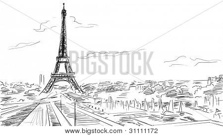 Eiffel Tower, Paris illustration