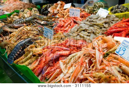 Great Quantity Of Fresh Seafood