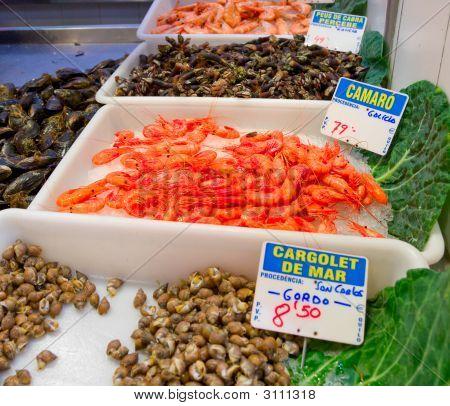 Boqueria Fish Market, Barcelona, Spain