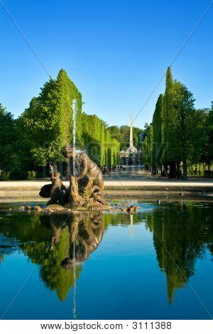 Artesian Well In Schonbrunn Gardens, Vienna