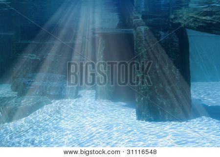 Underwater Landscape With Rocks