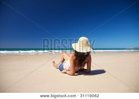 Resting At Zahara Beach