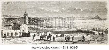 Perote plain old view, Veracruz, Mexico. Created by Gaildrau, published on L'Illustration, Journal Universel, Paris, 1863