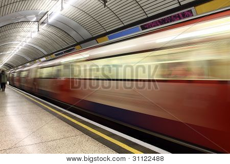 London Underground Train Station
