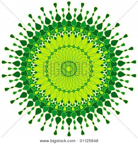 Artistic design pattern in shades of green