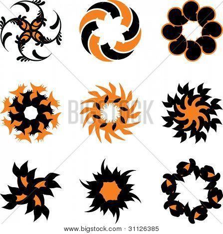 Abstract sun logo