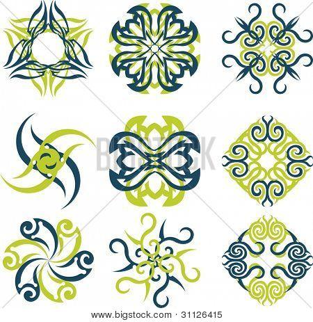 Abstract sun logos