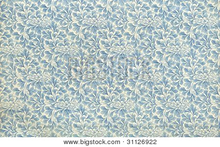 Endpaper Leaf Floral Pattern Vintage Illustration