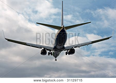 Passenger Jet Landing At Airport