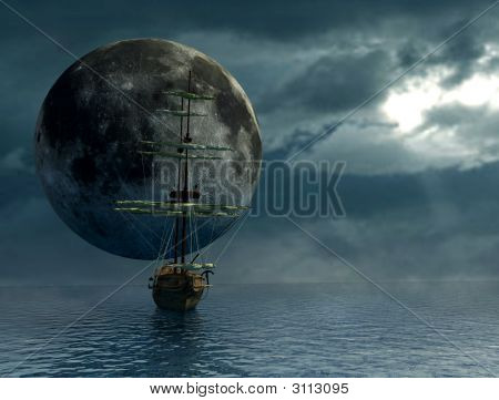 Galleon And The Moon