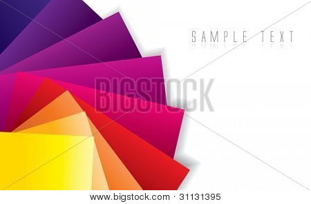 Abstract color spectrum background in editable vector format