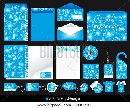 Stationery design set in modern look