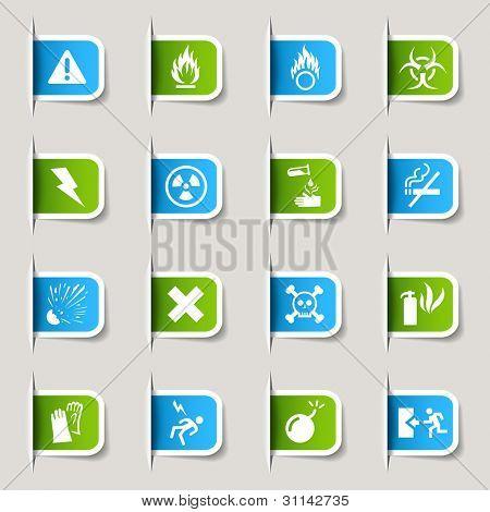 Etiqueta - los iconos de advertencia