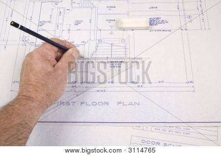 Architect, Drawing Up Plans For A House