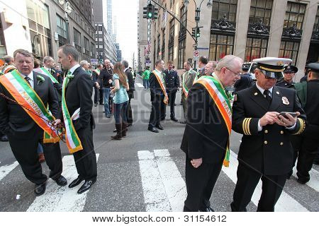 Marshals Muster for St. Patrick's Day Parade