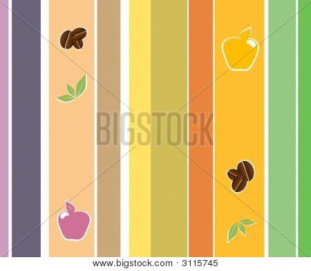 Stripes Kitchen Design Wallpaper