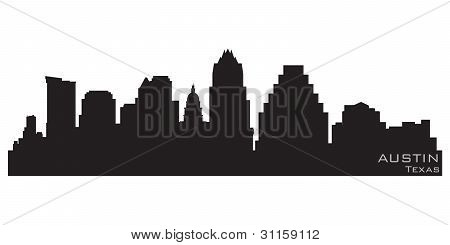 Austin, Texas Skyline. Detailed Vector Silhouette