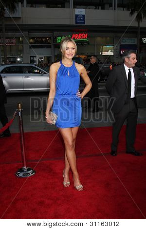 "LOS ANGELES - MAR 19:  Katrina Bowden. arrives at the ""American Reunion"" Premiere at the Graumans Chinese Theater on March 19, 2012 in Los Angeles, CA"