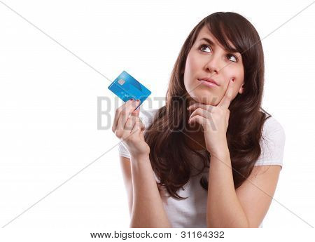 Young Girl With Credit Card