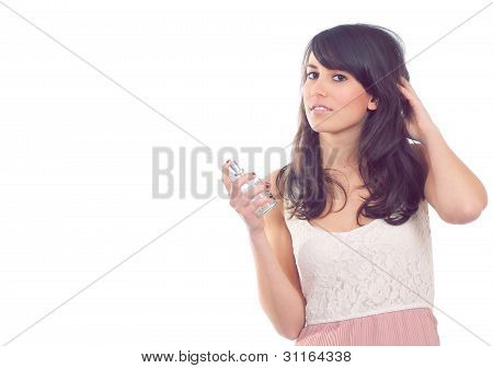 Attractive Girl  With Perfume