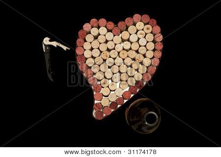 Cork Heart Background